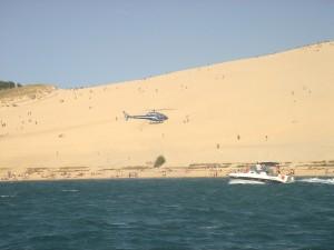 Arrivée dans les Landes à la Dune du Pyla