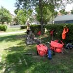 """Arrivée au camping de Capestant """"Municipal"""" en descendant la route principale du village"""