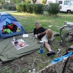 Première installation au camping