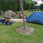 Arrivée et installation au camping municipal de Pépieux. Accueil et contact très chaleureux !