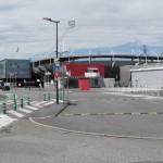 On c'est retrouvé devant le Stade Toulousain car on a pas retrouvé la piste cyclable qui longeait le canal de la Garonne