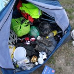 Le matin c'est toujours comme ça dans la tente bis avant le départ