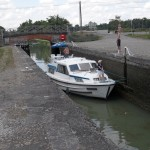 Enfin un bateau, il y en a beaucoup moins depuis Toulouse en direction de Langon