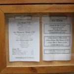 Carte des menus