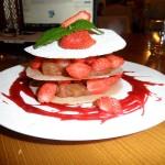 Feuillantines aux fraises et rhubarbe