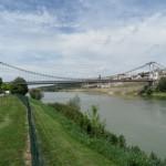 Nous sommes arrivés au camping municipal de La Réole avec son magnifique pont suspendu