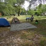 Nous sommes bien installés au camping de la Hure où les propriétaires nous ont réservé un bon accueil !