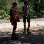 Discussion entre Dominique et un des randonneurs