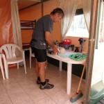 Pour ce PAGAN et avant le 2 juillet : 28 euros/jour pour 2 pers, soit 5 euros de plus que l'emplacement tente/électricité au camping du Pyla