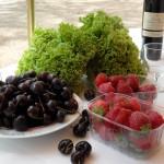 """En voici quelques produits, dont les fraises """"Charlottes"""" excellentes !"""